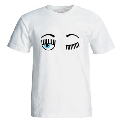 تی شرت آستین کوتاه زنانه طرح چشم کد 26057
