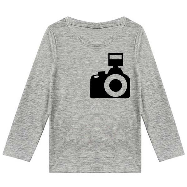 تیشرت آستین بلند پسرانه طرح دوربین عکاسی کد K80