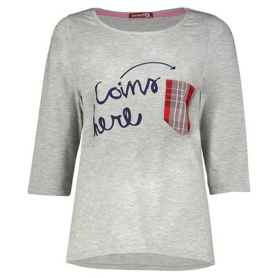 تصویر تی شرت زنانه افراتین طرح چهارخانه کد 8-7503