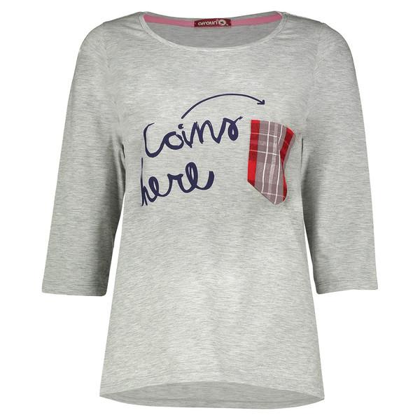 تی شرت زنانه افراتین طرح چهارخانه کد 8-7503