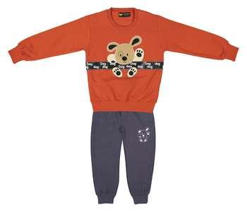 ست سویشرت و شلوار پسرانه خرس کوچولو مدل 2101105-33