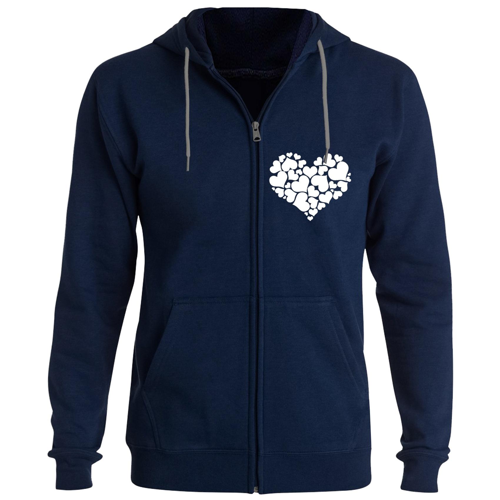 سویشرت زنانه طرح قلب کد F80 رنگ سرمه ای