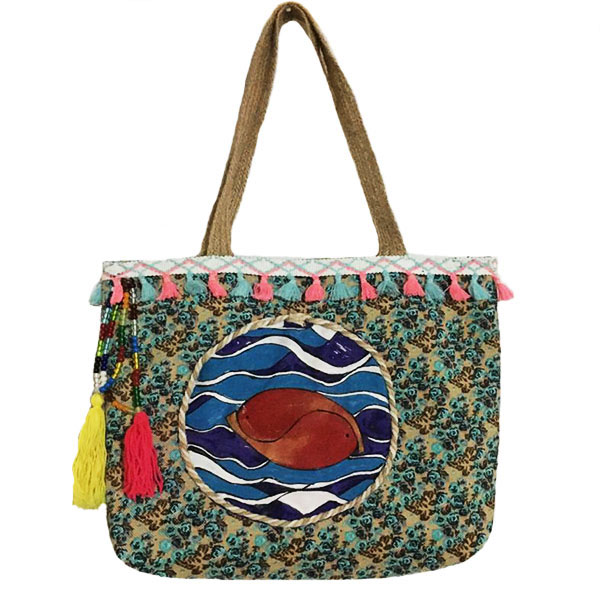 کیف دوشی زنانه طرح ماهی کد M120