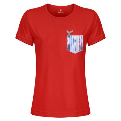 Photo of تی شرت زنانه ساروک مدل TZYUYRCH-Whale 07 رنگ قرمز