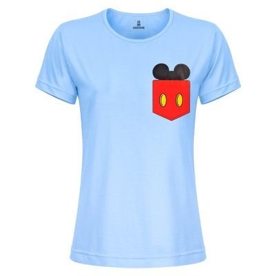 تی شرت زنانه ساروک مدل TZYUYRCH-Mickey 03 رنگ آبی روشن