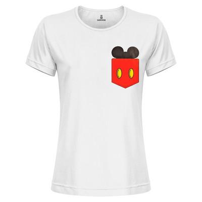 تی شرت زنانه ساروک مدل TZYUYRCH-Mickey 07 رنگ سفید