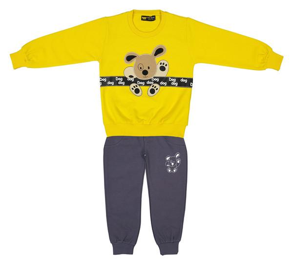 ست سویشرت و شلوار پسرانه خرس کوچولو مدل 2101105-16