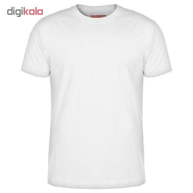 تی شرت آستین کوتاه مردانه کد 7579  رنگ سفید main 1 1