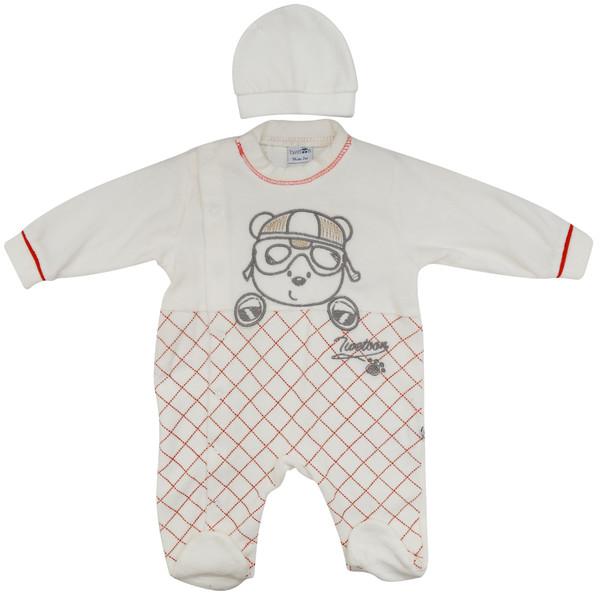 ست سرهمی و کلاه نوزادی کد F-3002