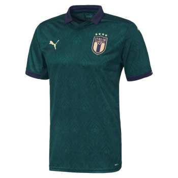 تی شرت ورزشی مردانه طرح تیم ملی ایتالیا مدل 2020 کد PT رنگ سبز