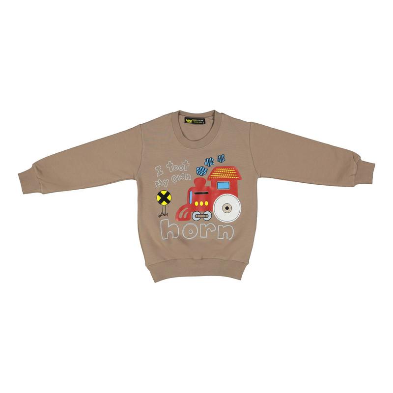 ست سویشرت و شلوار پسرانه خرس کوچولو مدل 2101102-34