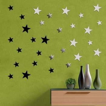 آینه فیلی طرح ستاره های نوک تیز کد PG010