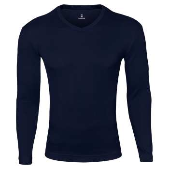 تی شرت آستین بلند مردانه ساروک مدل SMY7FR رنگ سرمه ای