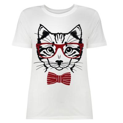 تی شرت زنانه طرح گربه کد SR2097W