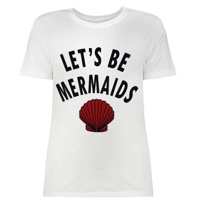 تی شرت زنانه طرح MERMAIDS کد SR2098W