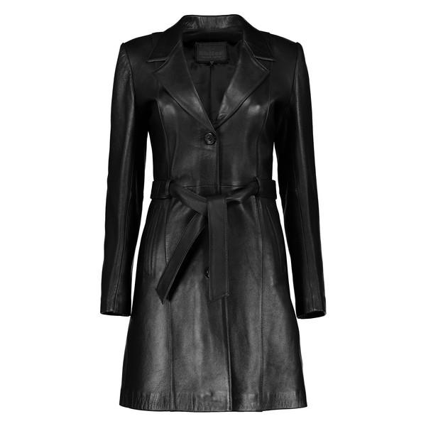 کت چرم زنانه شیفر مدل 2709-01