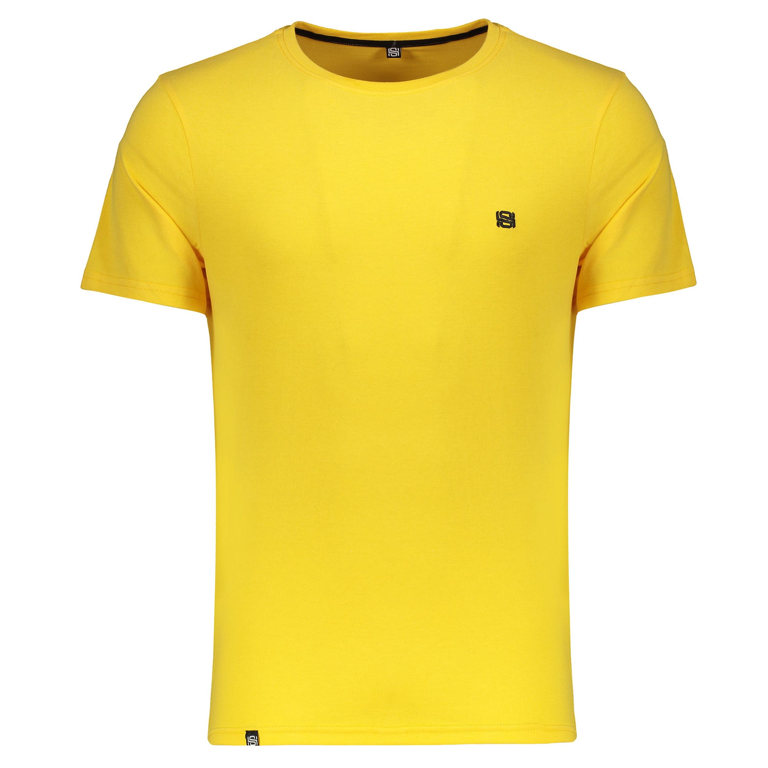 تیشرت مردانه شرافیت کد 020 رنگ زرد