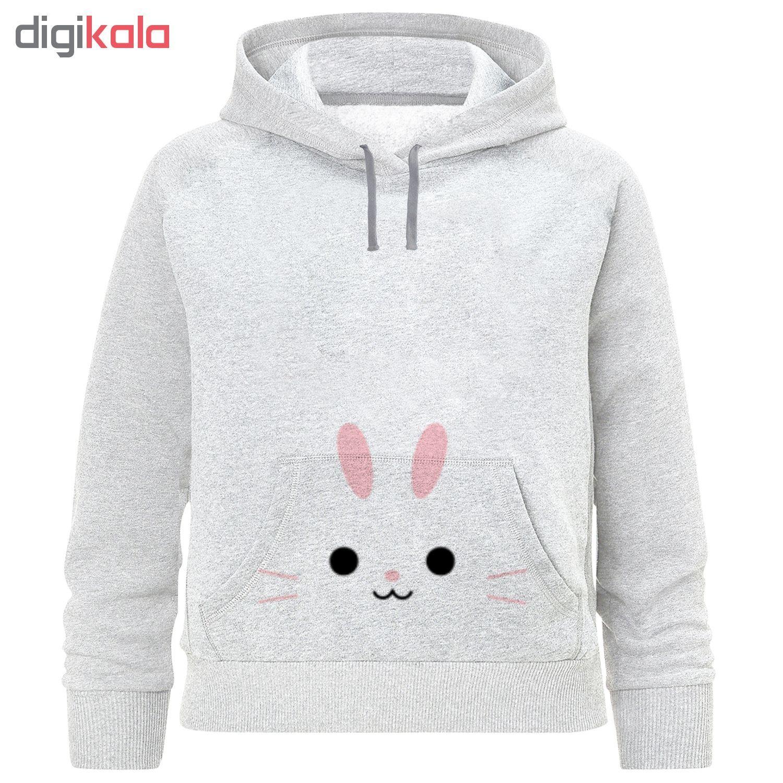هودی دخترانه طرح خرگوش  کد F89 main 1 1