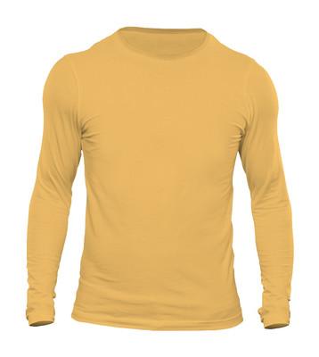 تصویر تیشرت آستین بلند مردانه کد  3SYLL رنگ زرد