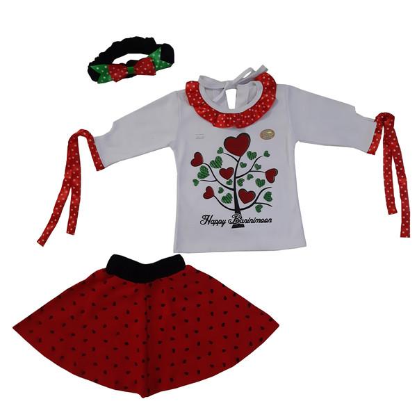 ست ۳ تکه لباس دخترانه مدل یلدا کد ۱۱۴۳