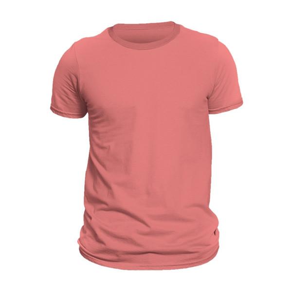 تیشرت آستین کوتاه مردانه کد 1SPII رنگ مرجانی