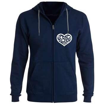 سویشرت زنانه طرح قلب کد F89 رنگ سرمه ای