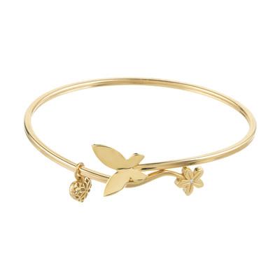 مدل های دستبند النگویی طلا ۱۸ عیار زنانه آلند کد D20