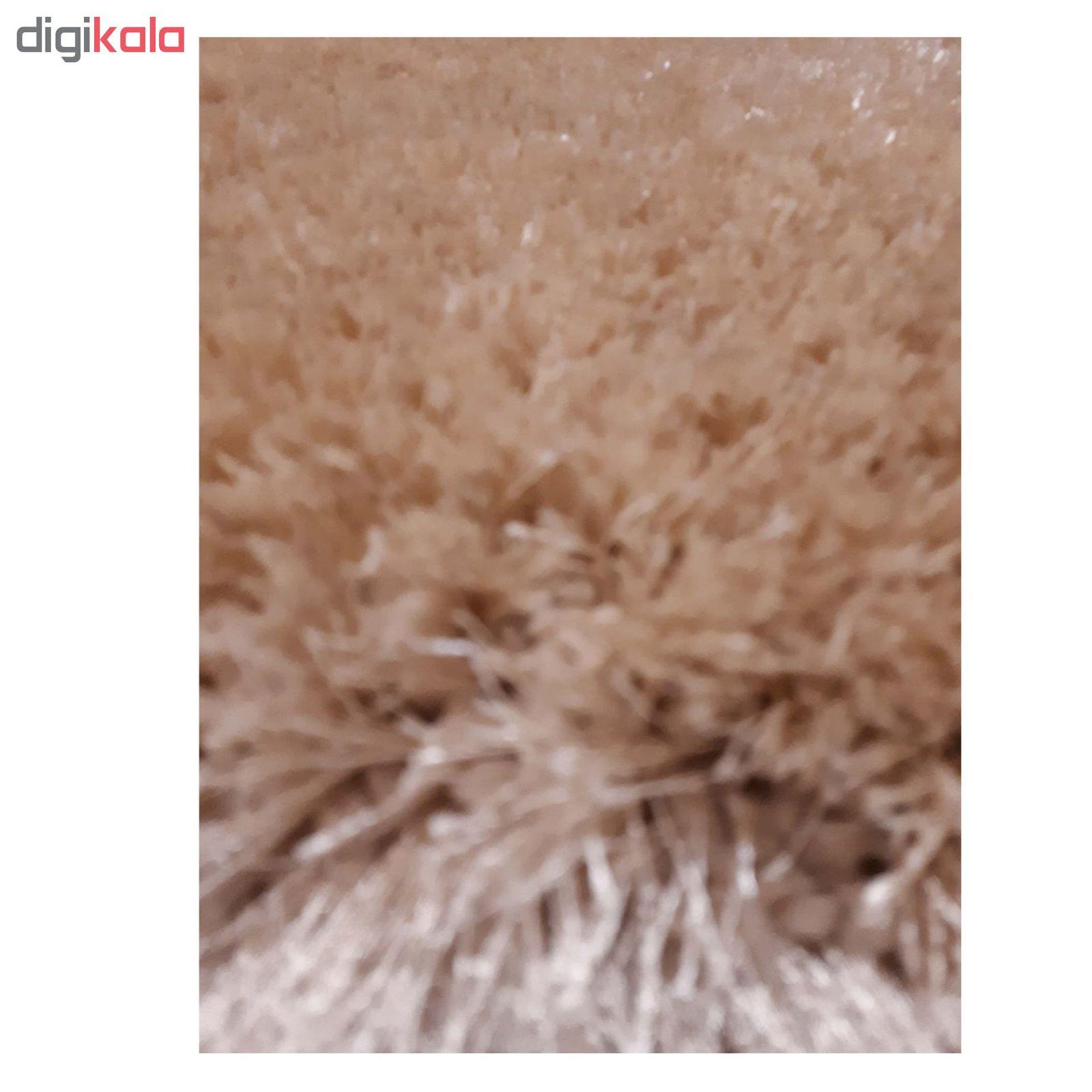 فرش ماشینی مدل شگی کد 5013 زمینه نسکافه ای main 1 3