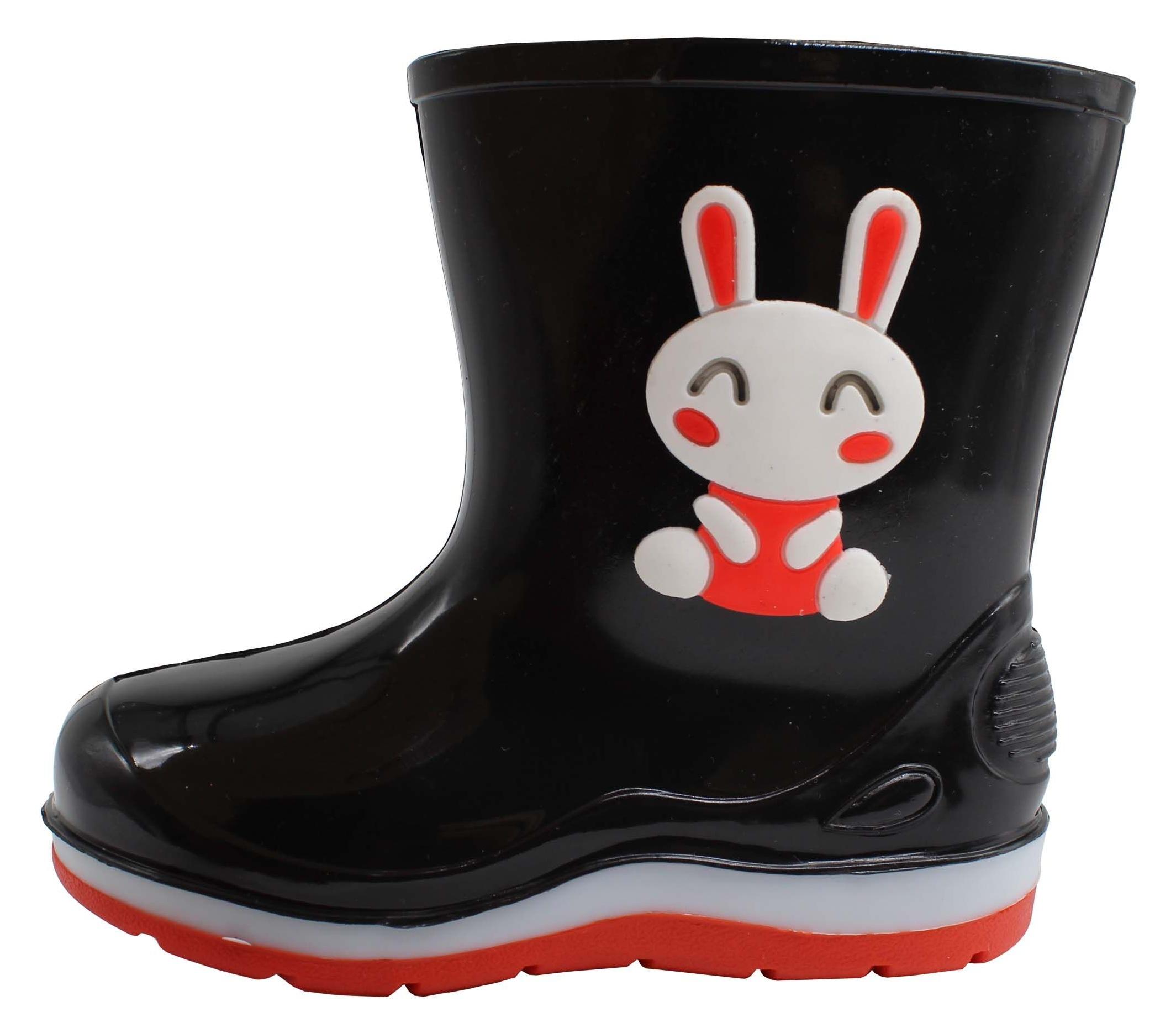 بوت دخترانه طرح خرگوش کد K1-1229-BK-RD