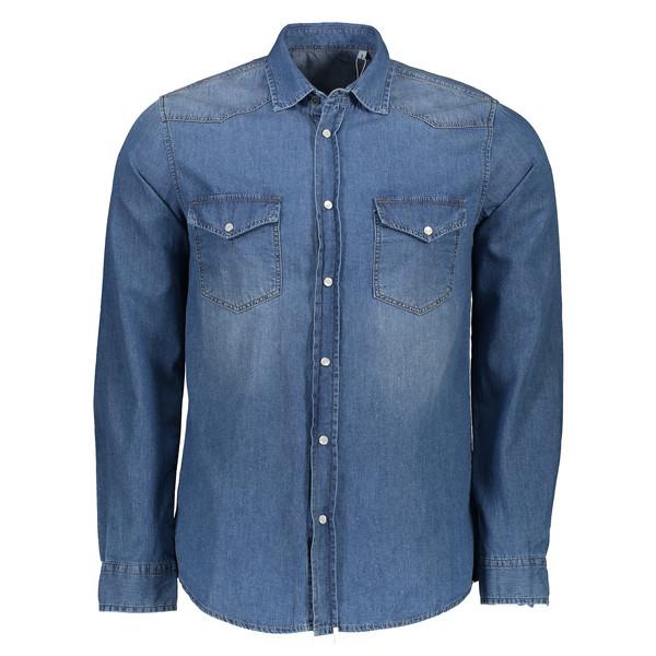 پیراهن مردانه سیاوود کد 6220201 رنگ آبی