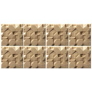 دیوارپوش تندیس و پیکره شهریار مدل آمای کد W1010-23 بسته 8 عددی