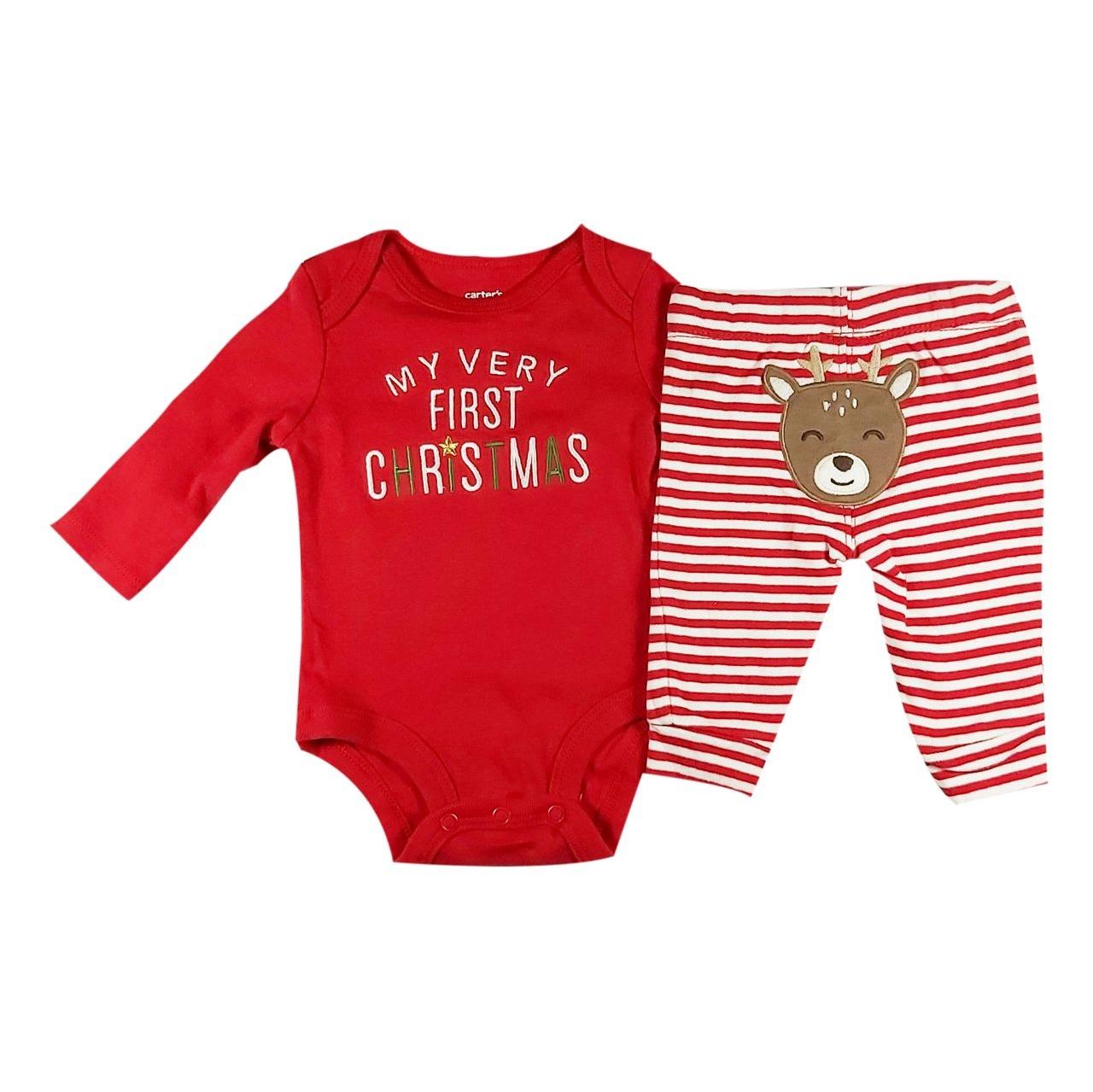 ست بادی و شلوار نوزاد کارترز مدل کریسمس