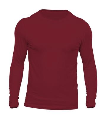 تیشرت آستین بلند مردانه کد 3BR رنگ زرشکی