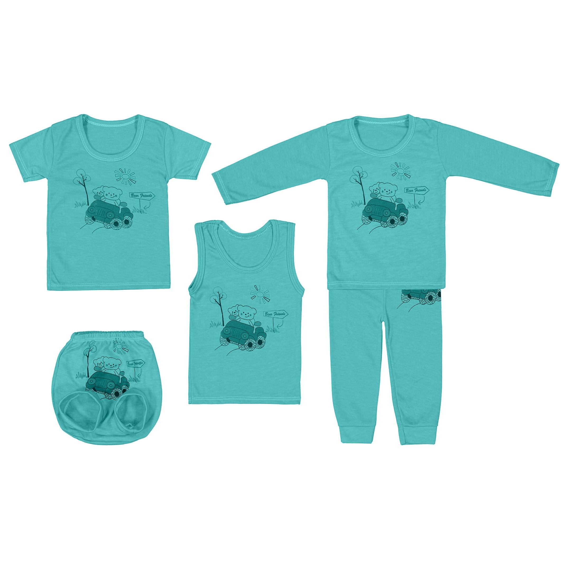 ست 5 تکه لباس نوزادی کد 008