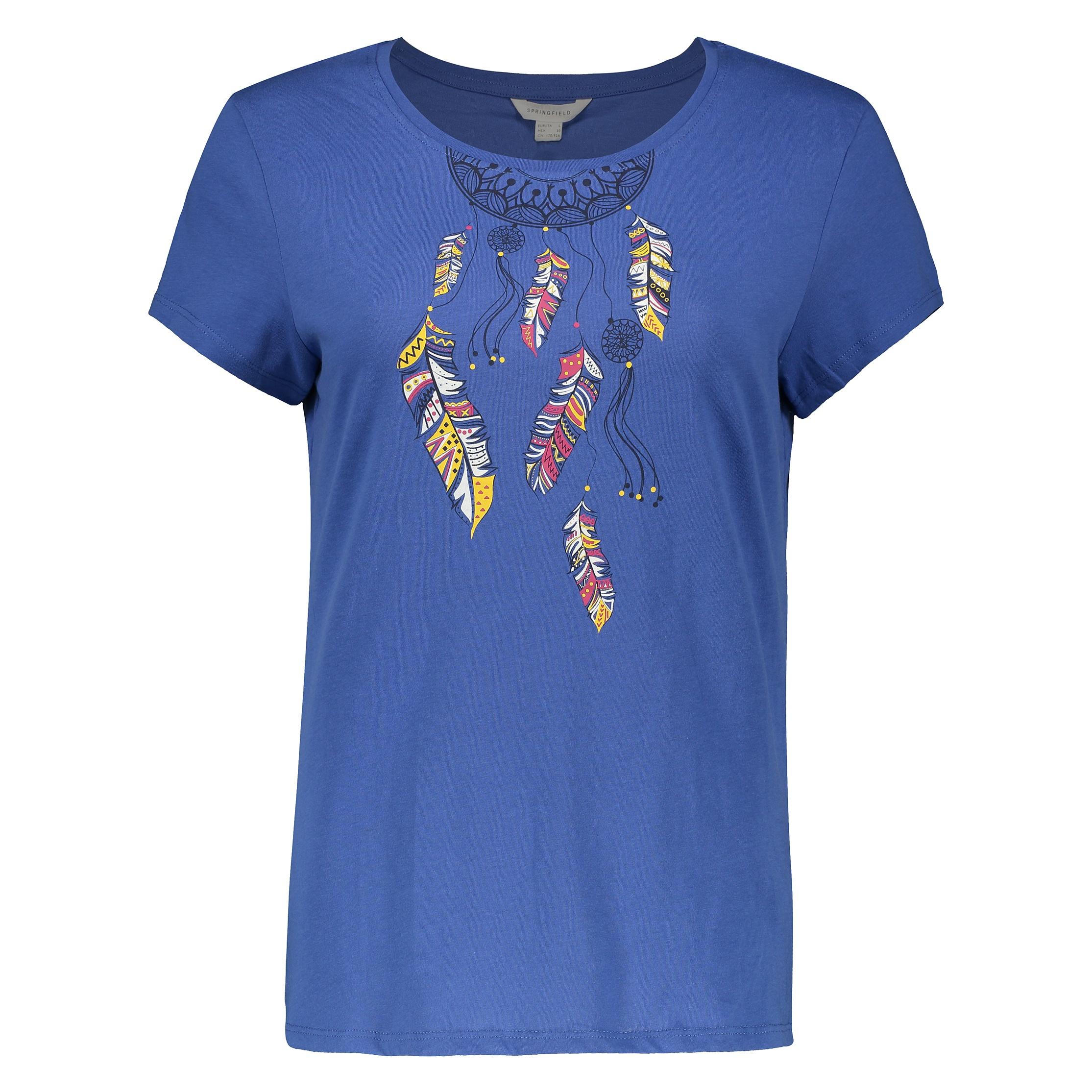تی شرت زنانه اسپرینگ فیلد مدل 1383531-Blue