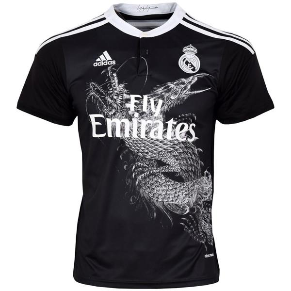 تیشرت ورزشی مردانه طرح رئال مادرید کد 2014-15 رنگ مشکی