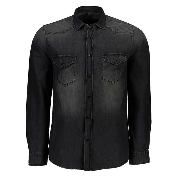 پیراهن مردانه سیاوود کد 6220201 رنگ مشکی