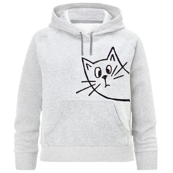 هودی دخترانه طرح گربه  کد K222