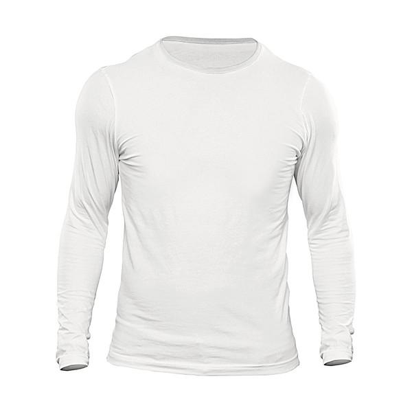 تیشرت آستین بلند مردانه کد 3BWHH رنگ سفید