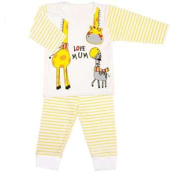ست تی شرت و شلوار نوزاد طرح زرافه کوچولو