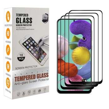 محافظ صفحه نمایش مدل A-75 مناسب برای گوشی موبایل سامسونگ Galaxy A71 بسته 3 عددی