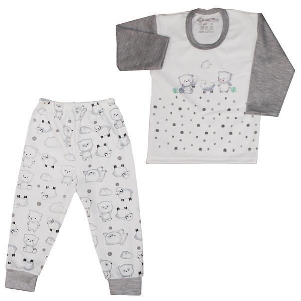 ست تیشرت و شلوار نوزادی کد SHTBSH001