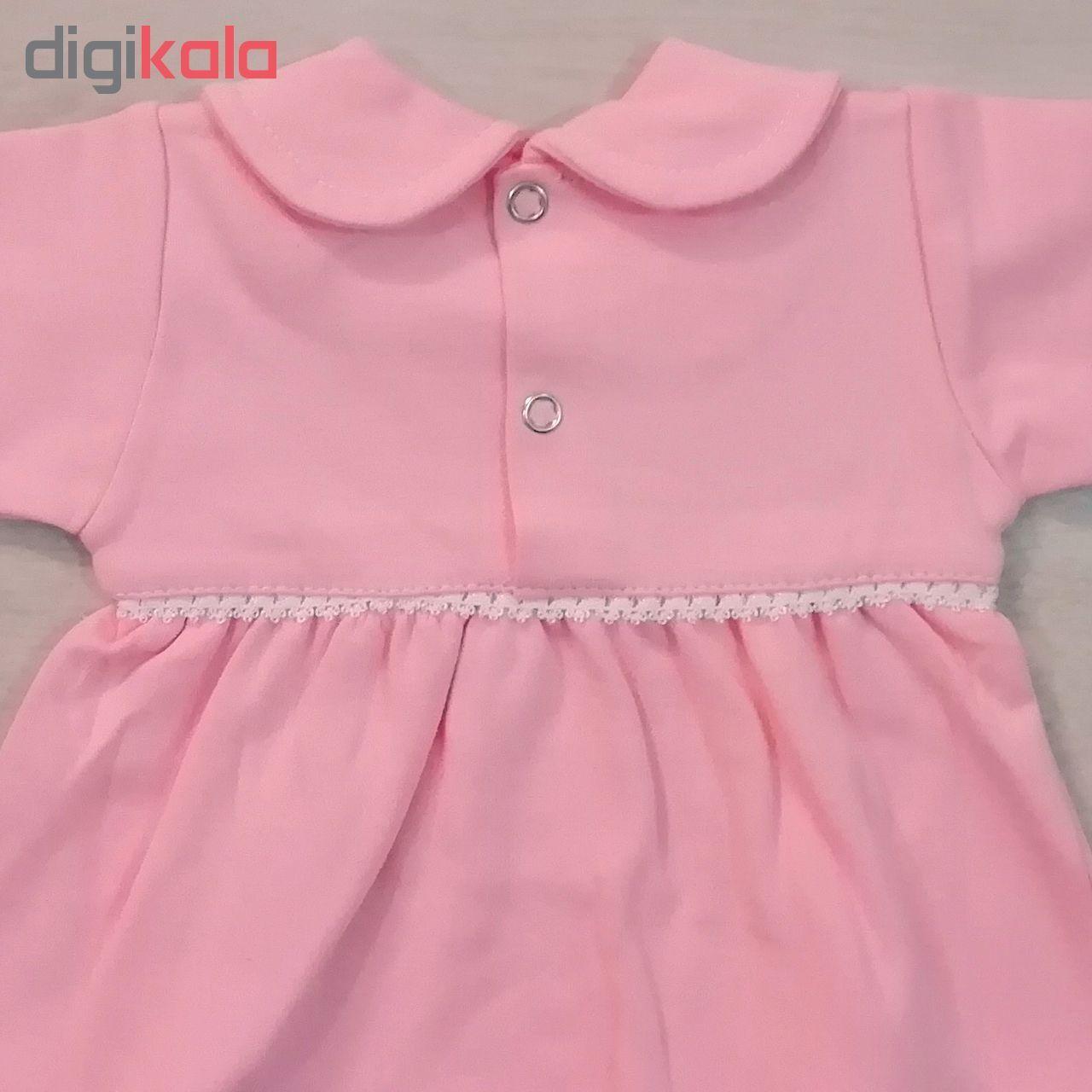 ست تیشرت و شلوار نوزادی دخترانه کد 980908 رنگ صورتی -  - 4