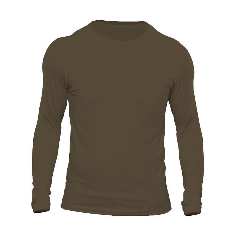 تیشرت آستین بلند مردانه  کد 3B رنگ زیتونی