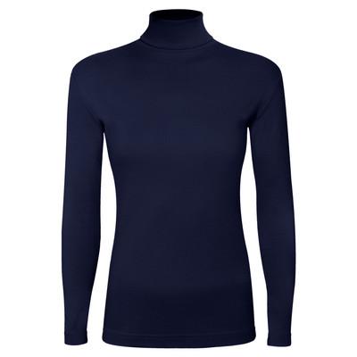 تصویر تی شرت آستین بلند زنانه ساروک مدل BZYeski09 رنگ سرمه ای