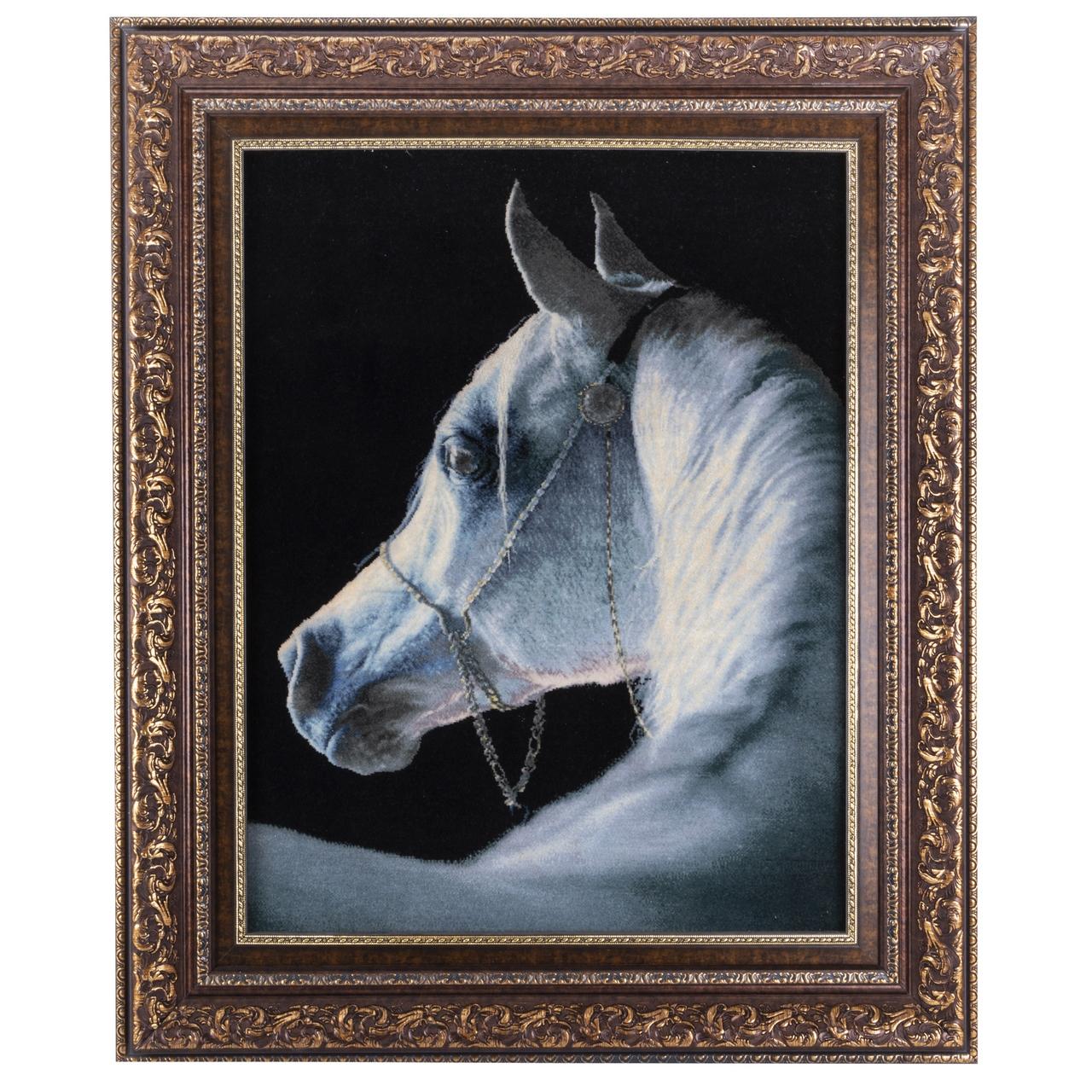 تابلو فرش دستباف سی پرشیا طرح کله اسب کد 901807