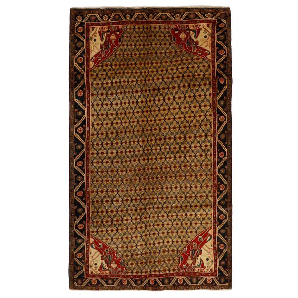 فرش دستبافت قدیمی چهار و نیم متری مدل سنقر کد 469815