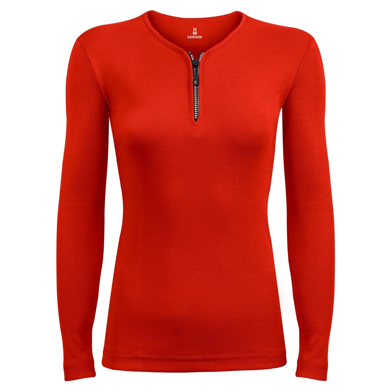 Photo of تی شرت آستین بلند زنانه ساروک مدل SZZiPDFR07 رنگ قرمز