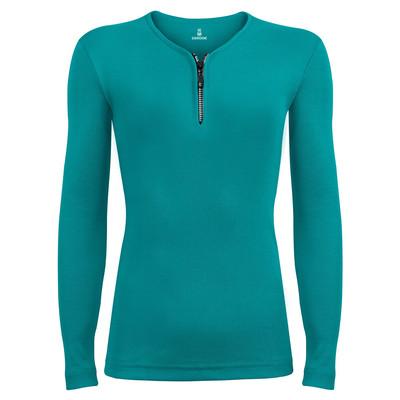 تی شرت آستین بلند زنانه ساروک مدل SZDFR02 رنگ سبز