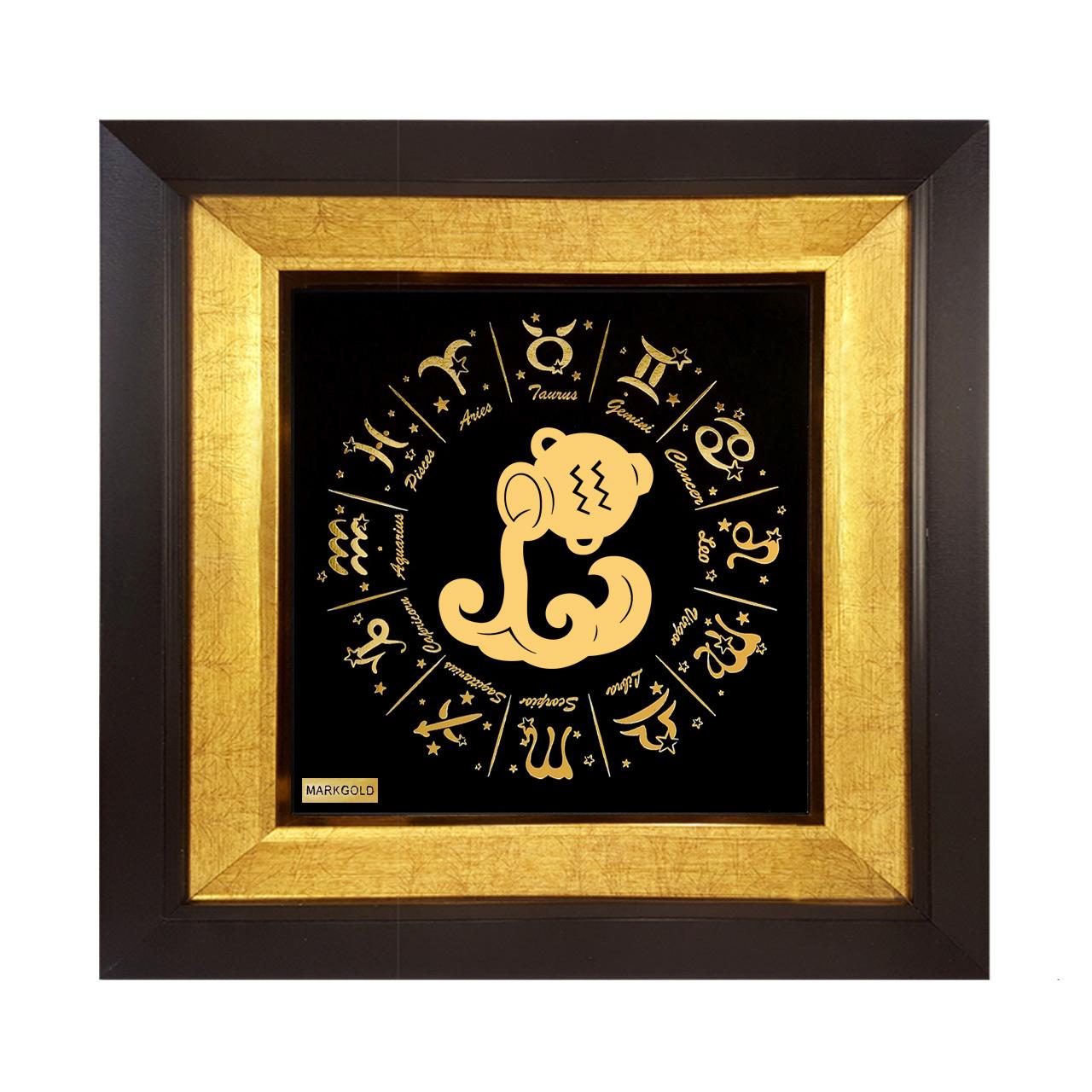 خرید                      تابلو طلا کوب مارک گلد طرح ماه تولد بهمن کد TT011